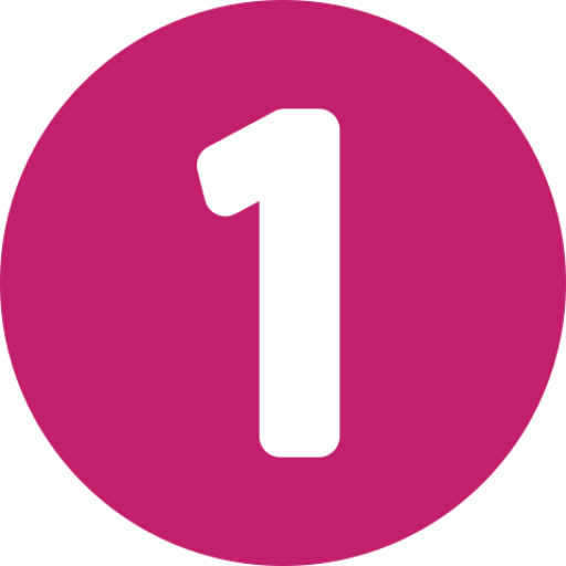 Number One Inside A Circle
